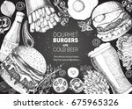 Beer And Burgers Vector...