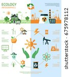 digital raster green ecology... | Shutterstock . vector #675978112