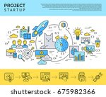 digital raster yellow and blue... | Shutterstock . vector #675982366