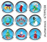 winter web buttons | Shutterstock .eps vector #67599238