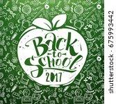 back to school chalkboard with...   Shutterstock .eps vector #675993442