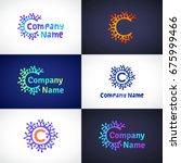 corals logo  emblem. circle...   Shutterstock .eps vector #675999466