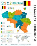 belgium infographic map and... | Shutterstock .eps vector #675999556
