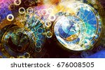 astrological symbol zodiac in... | Shutterstock . vector #676008505