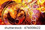 astrological symbol zodiac.... | Shutterstock . vector #676008622