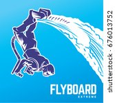 flyboard. sport emblem | Shutterstock .eps vector #676013752