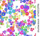 abstract colorful floral... | Shutterstock . vector #676021996