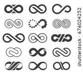 infinity symbol set. | Shutterstock .eps vector #676024252