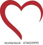 creative heart logo | Shutterstock .eps vector #676025995