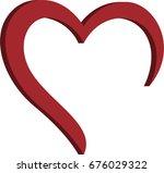 3d heart creative logo | Shutterstock .eps vector #676029322