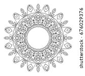 mandala hand drawn zentangle.... | Shutterstock .eps vector #676029376