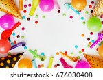decoration for the party on... | Shutterstock . vector #676030408