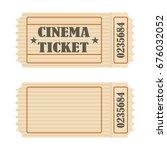 retro movie ticket  icon retro... | Shutterstock .eps vector #676032052