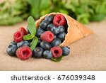 composition from fresh fruit on ... | Shutterstock . vector #676039348