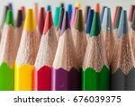 macro background of the pencil... | Shutterstock . vector #676039375