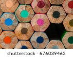 macro background of the pencil... | Shutterstock . vector #676039462