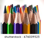 color pencils isolated on a... | Shutterstock . vector #676039525