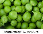 fresh green peas. studio photo   Shutterstock . vector #676040275