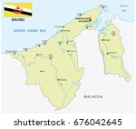 nation of brunei vector map... | Shutterstock .eps vector #676042645