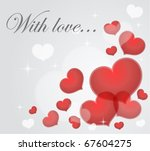 valentine card | Shutterstock .eps vector #67604275