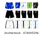 set of sport shorts template | Shutterstock .eps vector #676045246