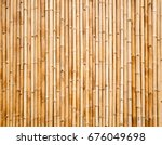 old brown tone bamboo plank... | Shutterstock . vector #676049698