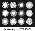 set of creative abstract... | Shutterstock .eps vector #676050082