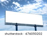 billboards with the sky in the... | Shutterstock . vector #676050202