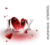 "inscription ""i love you""... | Shutterstock . vector #67605031"