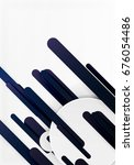 cut 3d paper color straight... | Shutterstock . vector #676054486