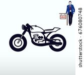 motorcycle  bike icon. flat... | Shutterstock .eps vector #676080748