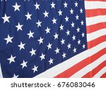 closeup of flags of united... | Shutterstock . vector #676083046