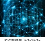 abstract background with... | Shutterstock . vector #676096762