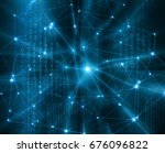 abstract background with... | Shutterstock . vector #676096822