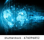 best internet concept of global ... | Shutterstock . vector #676096852