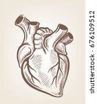 vector medical heart icon on... | Shutterstock .eps vector #676109512