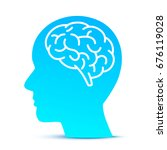 silhouette head with the brain... | Shutterstock .eps vector #676119028