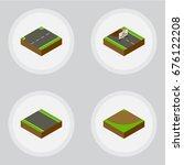 isometric road set of upwards ...   Shutterstock .eps vector #676122208
