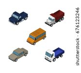 isometric car set of auto ... | Shutterstock .eps vector #676123246