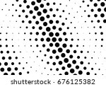 abstract halftone dotted... | Shutterstock .eps vector #676125382