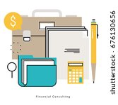 financial consulting  finance... | Shutterstock .eps vector #676130656
