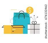 e commerce  e shopping  online... | Shutterstock .eps vector #676132462