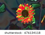 abstract flower | Shutterstock . vector #676134118