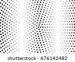 abstract halftone dotted... | Shutterstock .eps vector #676142482