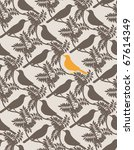 birds. seamless vector...   Shutterstock .eps vector #67614349