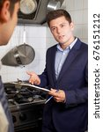 health inspector meeting with...   Shutterstock . vector #676151212