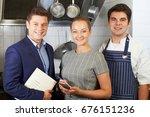 portrait of restaurant team... | Shutterstock . vector #676151236