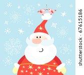big santa claus | Shutterstock .eps vector #67615186