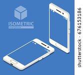isometric smartphone | Shutterstock .eps vector #676153186