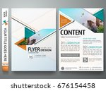 minimal brochure report... | Shutterstock .eps vector #676154458